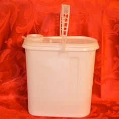 Tupperware Pitcher with Handle Vintage White by WVpickin on Etsy