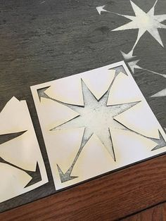 This star tile stencil cut file includes 1 cut file that can be resized. This moroccan tile cut file features a star pattern. I used it on my fireplace to resemble cement tiles. Would look great on a floor or as a backsplash. They are currently sized about 7 x 7, but your cutting