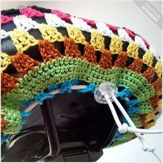 KT-Sports Gel Bike Seat Cover Bicycle Saddle Most Comfortable Seat Hippie Crochet, Crochet Home, Crochet Crafts, Crochet Doilies, Crochet Projects, Knit Crochet, Bike Seat Cover, Saddle Cover, Granny Square Crochet Pattern