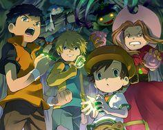 Digidestined from different seasons Otaku, All Anime, Anime Art, Digimon Seasons, Digimon Adventure 02, Digimon Frontier, Digimon Tamers, Digimon Digital Monsters, Pokemon Eeveelutions