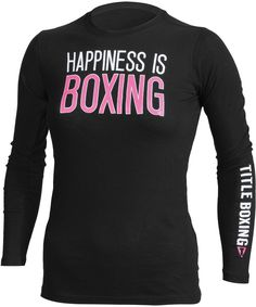 TITLE Boxing Women's Happiness Long Sleeve Tee - Shirts - Apparel | TITLE MMA Gear