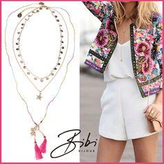 Lovely pink necklace of the Lily Rose collection. #bibi #bijoux #bibijoux #sisters #handmade #swarovski #netherlands