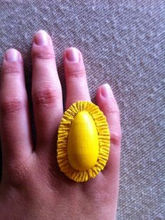 YELLOW A Ray of Sunshine  Yellow Ring with Sun by TheGentleFlower