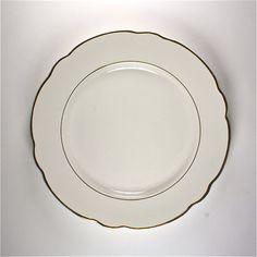 five vintage KG Luneville Badonviller France 1930s ceramic dinner plates & Vintage Black White Dinner Plates Syracuse China Restaurant Syralite ...