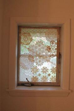 improving a small bathroom window, bathroom ideas, window treatments, windows Bathroom Window Dressing, Small Bathroom Window, Small Window Curtains, Bathroom Window Curtains, Lace Window, Bathroom Windows, Small Windows, Diy Curtains, Window Art