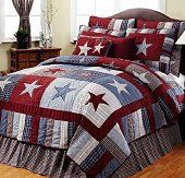 Blue and Red Star is our latest patriotic pattern which highlights bold red, white and blue stars on various plaid and patterned backgrounds. perfect for the Americana room!