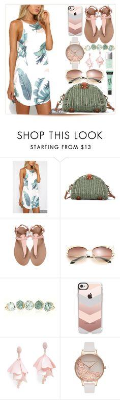 """yoins dress"" by teto000 ❤ liked on Polyvore featuring Casetify, Oscar de la Renta Pink Label, Olivia Burton and Victoria's Secret"