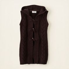 hooded sweater vest- cute for the girls for fall