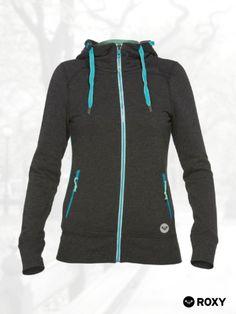Roxy Womens Distance Hoody Zip Sweatshirt