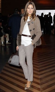 Leopard Shoes On Olivia Palermo