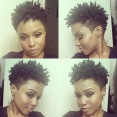 Tapered So this is pretty much what my hair looks like but the shrinkage is out of control on mine. Tapered Natural Hair, Pelo Natural, Curly Hair Styles, Natural Hair Styles, Pelo Afro, Sassy Hair, My Hairstyle, Natural Hair Inspiration, Locs