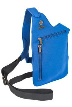 Blue Neoprene outdoors purse: Great for hiking or any activity in which you need to have both hands free!