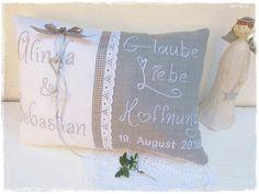 Weiteres - Glaube Liebe Hoffnung - Kissen  - ein Designerstück von Gemuetlichkeiten bei DaWanda