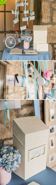 You've got mail! What a cute way to collect your guests' well wishes than with a vintage inspired mailbox that you can personalize!
