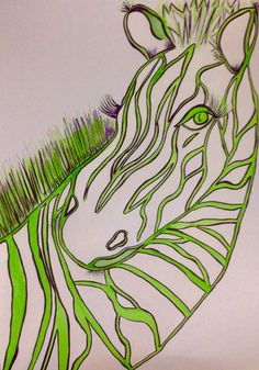 Watercolour Zebra