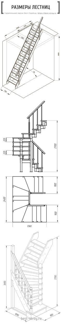 Размеры лестниц на второй этаж частного дома