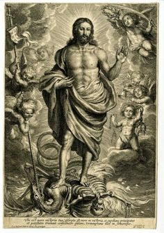 Schelte Adamsz Bolswert, Christ standing on top of Death and a dragon, century Religious Images, Religious Art, Jesus Tattoo, Arte Obscura, Jesus Art, Psy Art, Biblical Art, Catholic Art, Angels And Demons