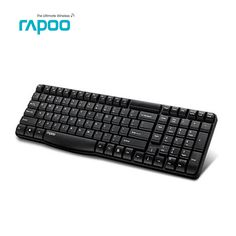 Original Rapoo E1050 2.4G USB wireless Keyboard, Ultra silm mini protable metal ,for PC Laptop desktop Table,Free shipping