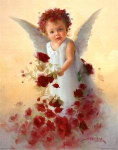 Baby Angel with roses