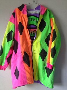 RESERVED 80's 'Kozmik' Fluro jacket size L by 2ndlyf on Etsy, $45.00 /// www.art-by-ken.com