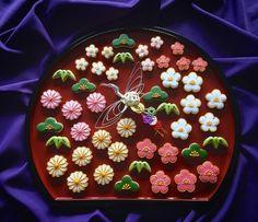 Sugar Cookie Frosting, Meringue Cookies, Royal Icing Cookies, Sugar Cookies, Japanese Cookies, Japanese Sweets, Bird Cookies, Iced Biscuits, Dessert Decoration