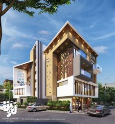 Visualization is expert in architectural rendering, walkthrough, architecural visualization, animation, interior design and realistic rendering House Architecture Styles, Modern Architecture Design, Facade Architecture, Bungalow House Design, Modern House Design, Bungalow Exterior, Modern Bungalow, Fancy Houses, Facade House
