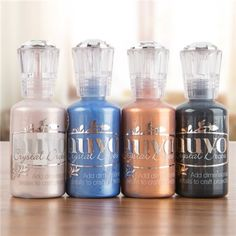 Nuvo By Tonic Studios Crystal Drops - Copper Penny, Ebony Black, Antique Rose and Navy Blue (339927) | Create and Craft