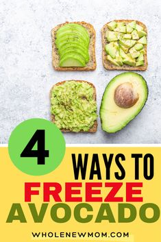 Can you Freeze Avocado? Sure you can! It is the best way to save avocado! We all know that prices for avocado vary so much according to the season. Here we show you have to save so much money by freezing avocado. Never throw away an overripe avocado again if you use these how to freeze an avocado tips. Avocados are expensive so you really can't waste them. Save so much money with these easy ways to freeze  avocado for guacamole, smoothies and more. Yummy Healthy Snacks, Healthy Appetizers, Healthy Salads, Healthy Eats, Healthy Recipes, Low Carb Side Dishes, Healthy Side Dishes, Can You Freeze Avocado, Cream Lemon