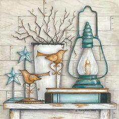 Trendy Decor 'Lantern on Books' Framed Graphic Art Print .- Trendy Decor 'Lantern on Books' Framed Graphic Art Print Decoupage Vintage, Primitive Painting, Painting On Wood, Framed Wall Art, Framed Art Prints, Art Encadrée, Book And Frame, Decoupage Printables, Pintura Country