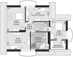 Unique Country House Plan With Four Bedrooms And Three Bathrooms - House And Decors Four Bedroom House Plans, Porch House Plans, Bungalow House Plans, Modern House Plans, House Floor Plans, Home Building Design, Home Design Plans, The Plan, How To Plan