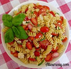 Rotini with Fresh Lemon and Grape Tomatoes -: