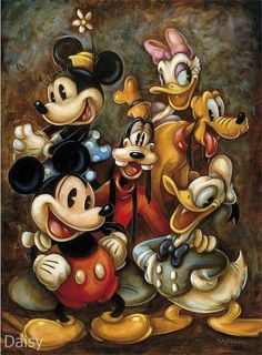 Walt Disney Mickey Mouse & the gang Arte Do Mickey Mouse, Mickey Mouse Y Amigos, Mickey Mouse Cartoon, Mickey Mouse And Friends, Minnie Mouse, Vintage Mickey Mouse, Walt Disney Mickey Mouse, Vintage Disney Art, Retro Disney