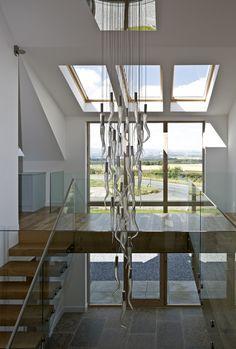 Gleneagels Eco House Atrium with feature light - SIPS Self build AC Architects www.acarchitects.biz