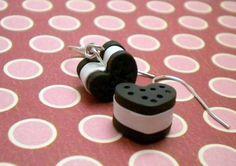 Heart Ice Cream Sandwich Dangle Earrings  A by ElvenStarClayworks, $10.00