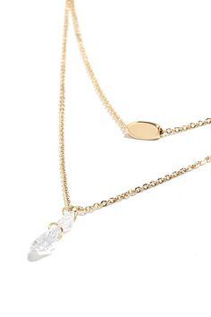 Precious Gems Gold Rhinestone Layered Necklace