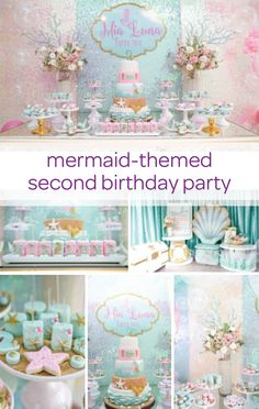 Looking for a unique toddler birthday party theme? Throw your little girl this spectacular mermaid-themed second birthday party. From sparkling accessories and party favors to a gorgeous dessert display, this unique party theme is sure to dazzle your birthday girl!