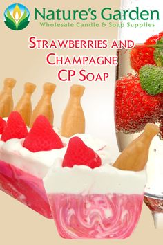 Strawberries and Champagne CP Soap by Natures Garden.