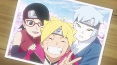 Anime Naruto, Naruto Fan Art, Naruto Shippuden Anime, Naruto And Sasuke, Inojin, Shikadai, Boruto And Sarada, Team Konohamaru, Boruto Next Generation