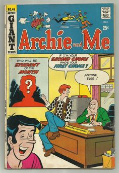 Archie Comics Archie and Me Giant Series 1971 Bronze Age Comics Archie Comics Characters, Archie Comic Books, Book Cover Art, Comic Book Covers, Jughead Comics, Betty And Veronica, I Remember When, Vintage Comics, Bronze Age