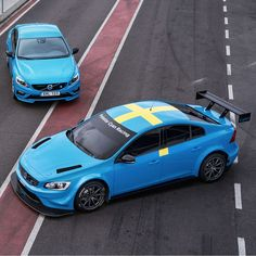 The #Volvo S60 #Polestar, cutting edge technology in motorsport and for the road.
