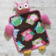 Whoooo wouldn't want to cuddle up with a crocheted Owl Lovey from Repeat Crafter Me?