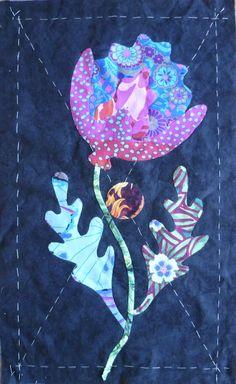 Table runner or mug rug: Glorious Applique: Kim McLean Flower Garden