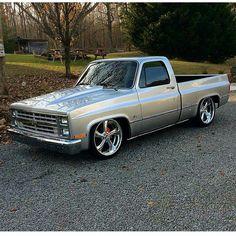 87 Chevy Truck, Custom Chevy Trucks, C10 Trucks, Chevy C10, Square Body, Classic Trucks, Bodies, Vehicles, Fun