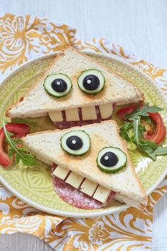 Kids Food Crafts, Food Art For Kids, Cooking With Kids, Dinners For Kids, Kids Meals, Food Without Fire, Animal Shaped Foods, Cute Food, Good Food