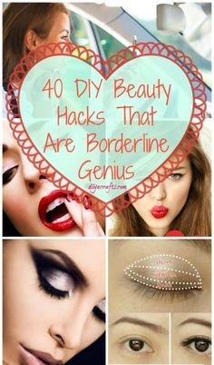 40 DIY Beauty Hacks That Are Borderline Genius Good 1 bout contouring & mascara with business cards