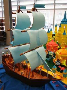 Awesome origami pirate ship!