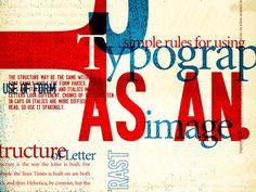 13 red blue typography poster 28 Geniales ejemplos de tipografías en posters