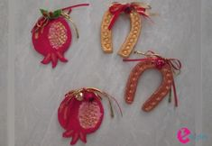 Christmas Crafts, Christmas Decorations, Xmas, Lucky Charm, Pomegranate, Brooch, Charmed, Drop Earrings, Jewelry