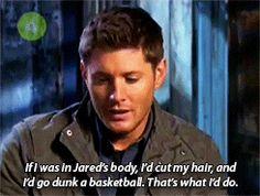 Jensen Ackles on shapeshifting into Jared Padalecki. #Supernatural #Winchesters #SPN