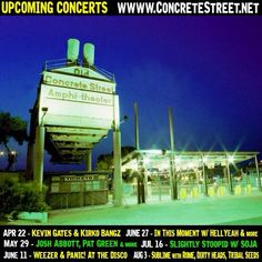 We here at the shop would like to remind everyone of all the exciting upcoming concerts! Stay tuned for dates as to when you can register for tickets and the concert it will be for! #breatheinvapeout #concretestreet #concertseason